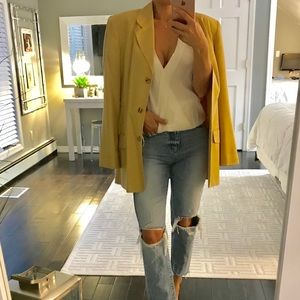 August Silk Raw Silk blazer Size 6 or Medium